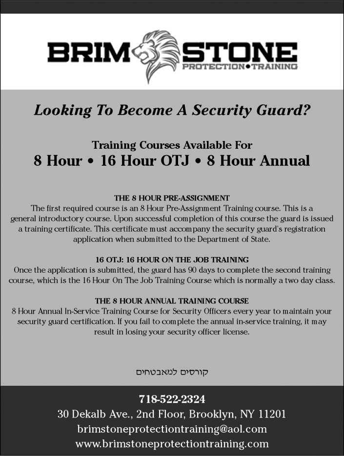 Brimstone Protection Training - security guards, security guard ...