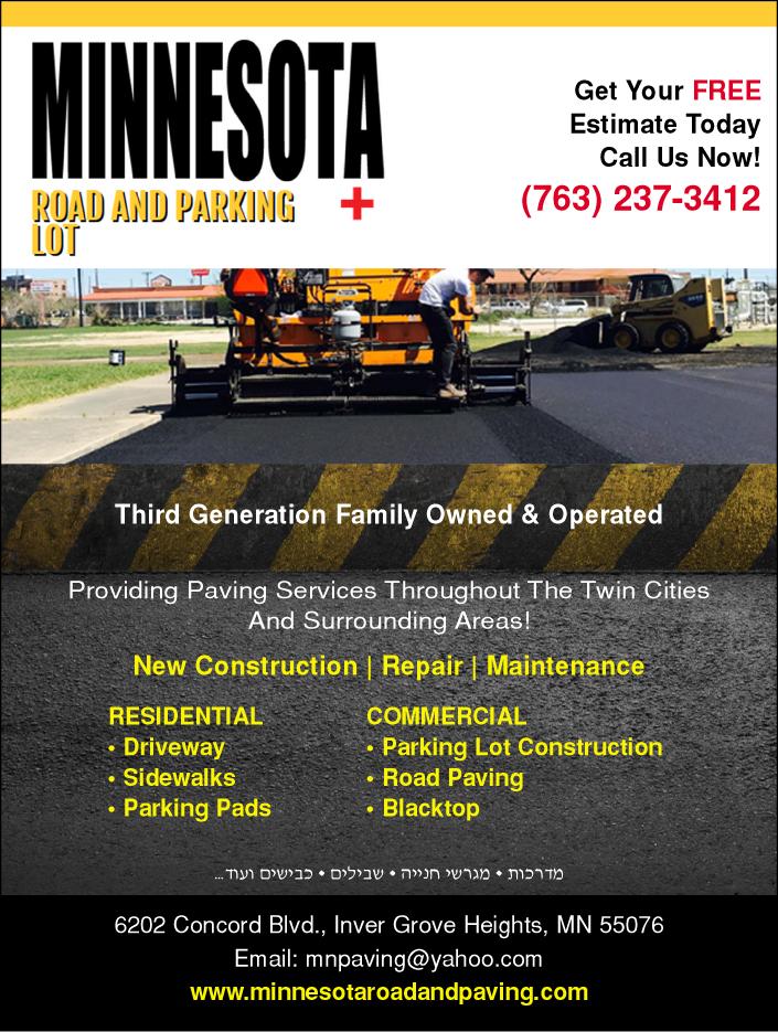Minnesota Roads and Parking Lots Plus - black top, paving
