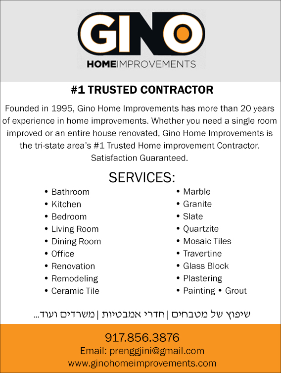 Gino Gc Corp Bathroom Remodeling Kitchen Remodeling Painting Plumbing Home Improvements Jewish Directory